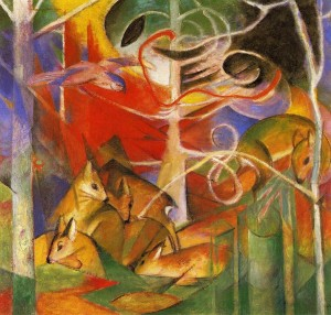 Franz_Marc_Deer_in_the_Forest