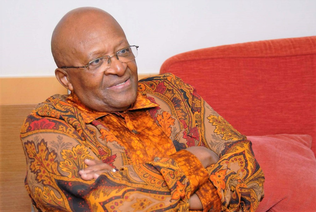 Desmond Tutu arms crossed