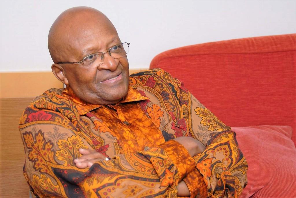 Desmond Tutu arms crossed